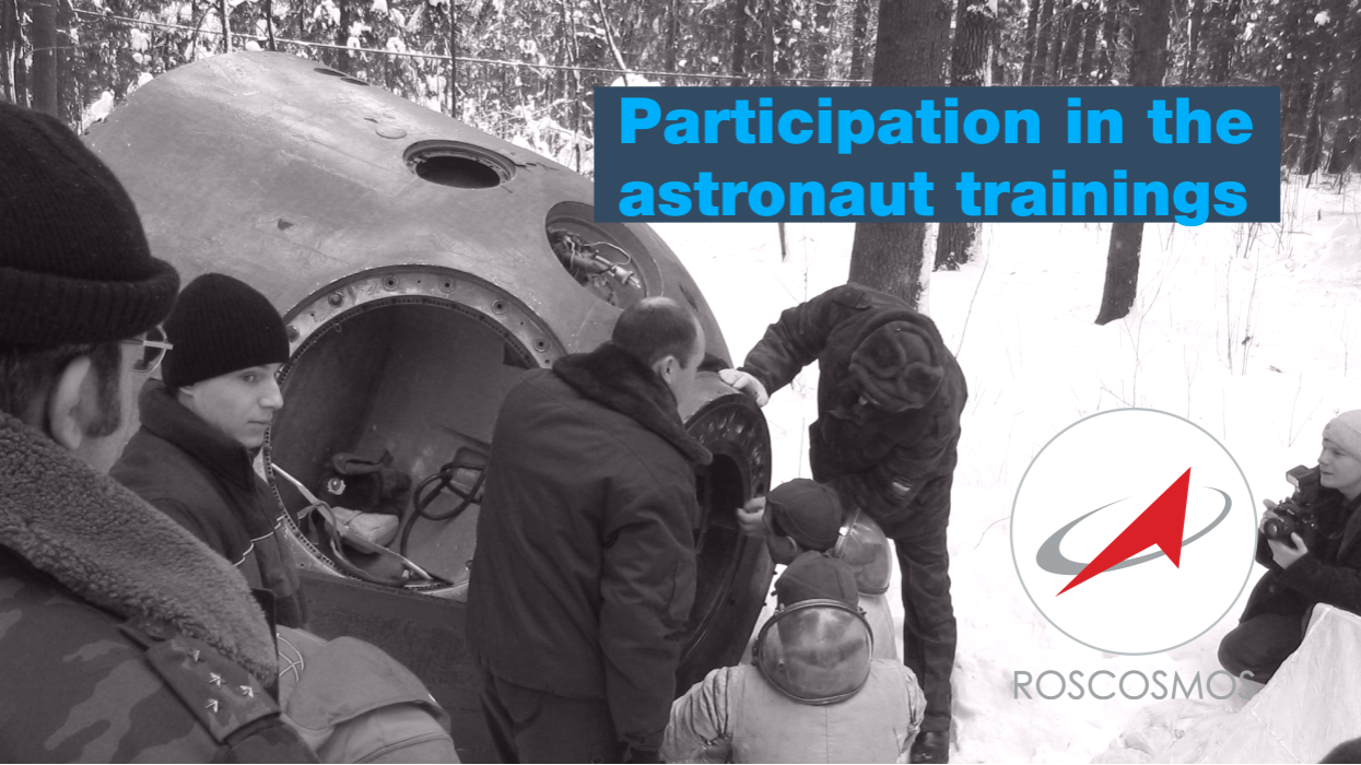Participation in the astronaut trainings